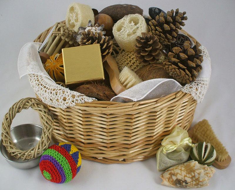 cesto de los tessori montessori bebes nigran