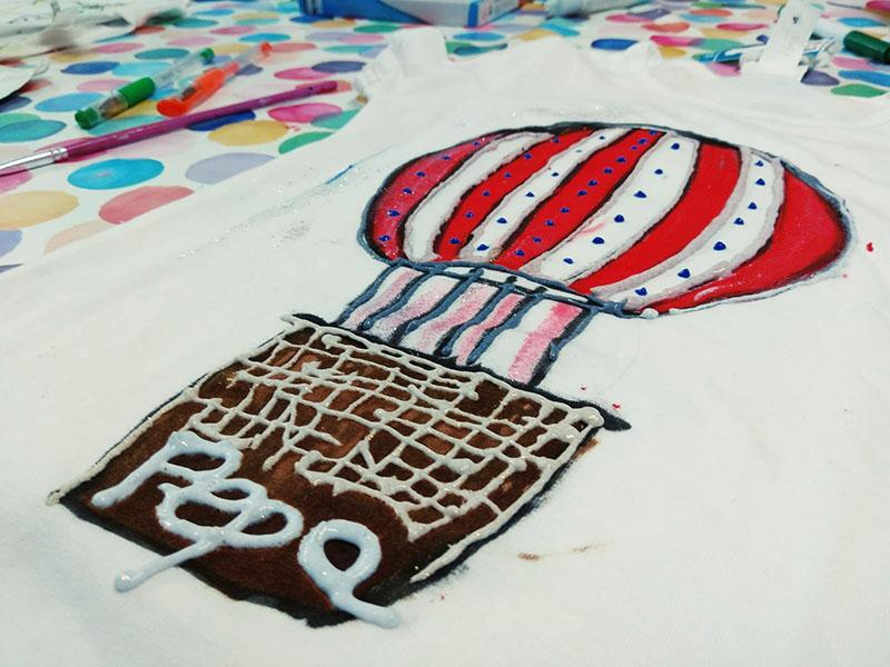 taller creatividad pinta tu camiseta nigran