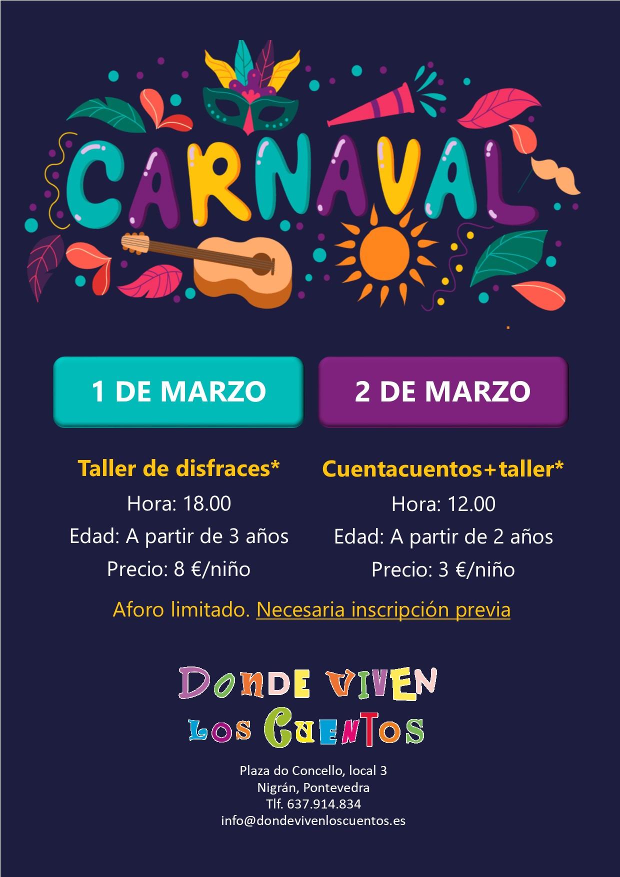 Carnaval entroido nigran niños talleres cuentacuentos