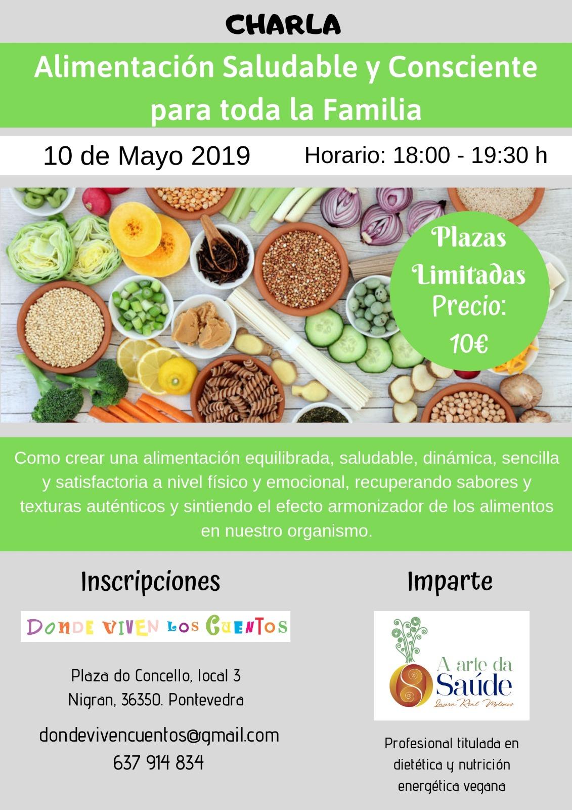 Charla: Alimentación saludable y consciente para toda la familia