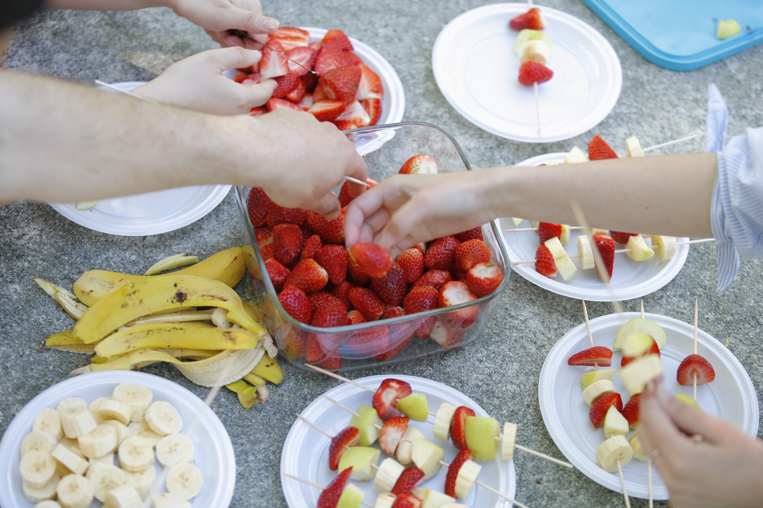 meriendas cumpleaños fruta