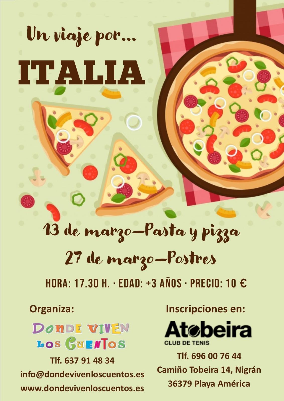 Taller Obradoiro Manualidades Viajes Niños Cocina Pizza pasta