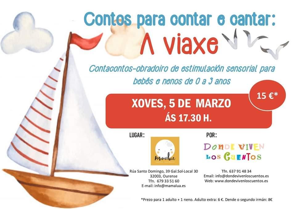 Obradoiro de estimulación sensorial: A viaxe estimulación sensorial contacontos bebés Mamalúa Ourense