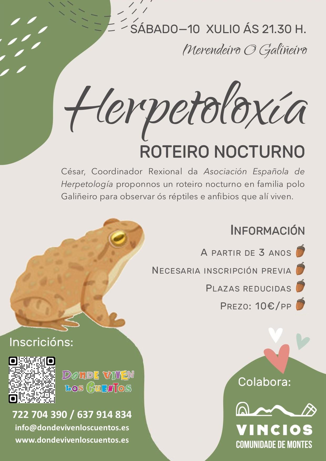Taller de herpetología con Cesar Ayres en el Monte O Galiñeiro