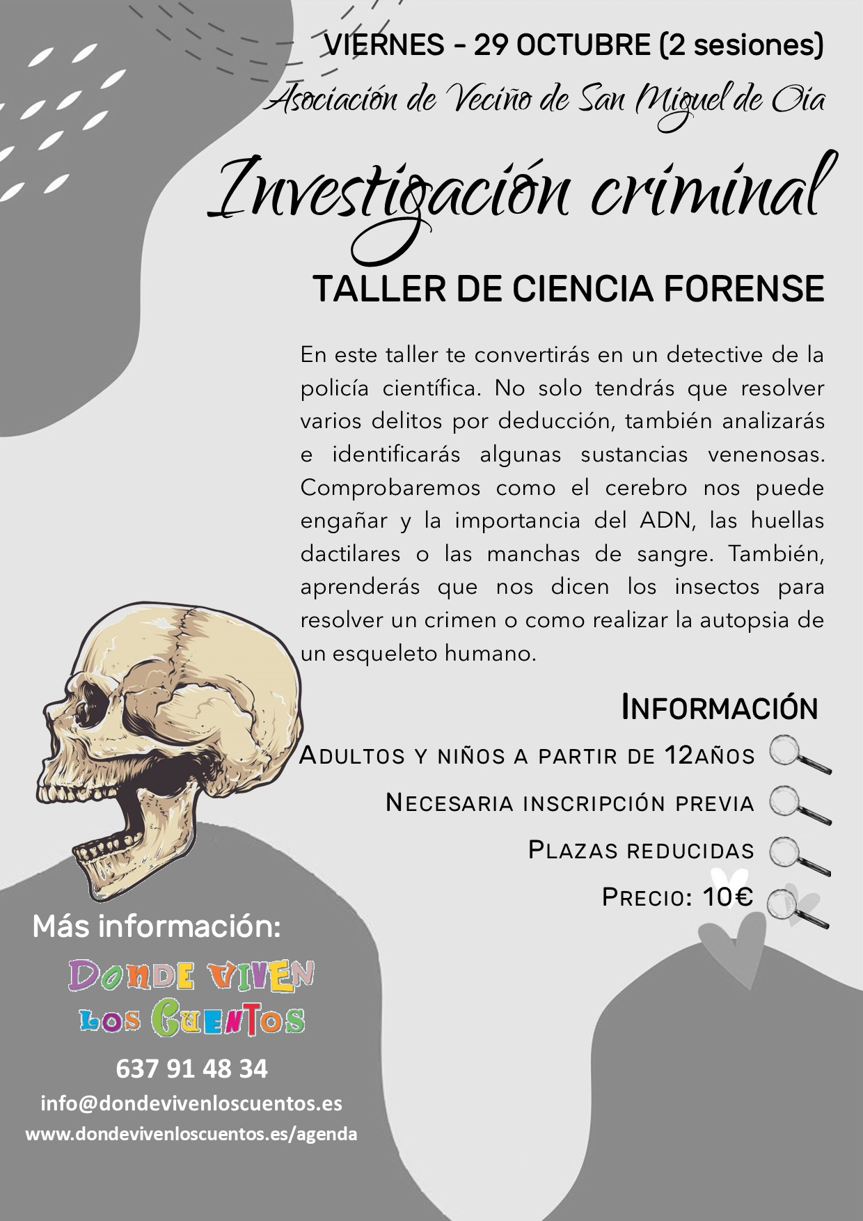 taller investigacion cientifica ciencia forense vigo