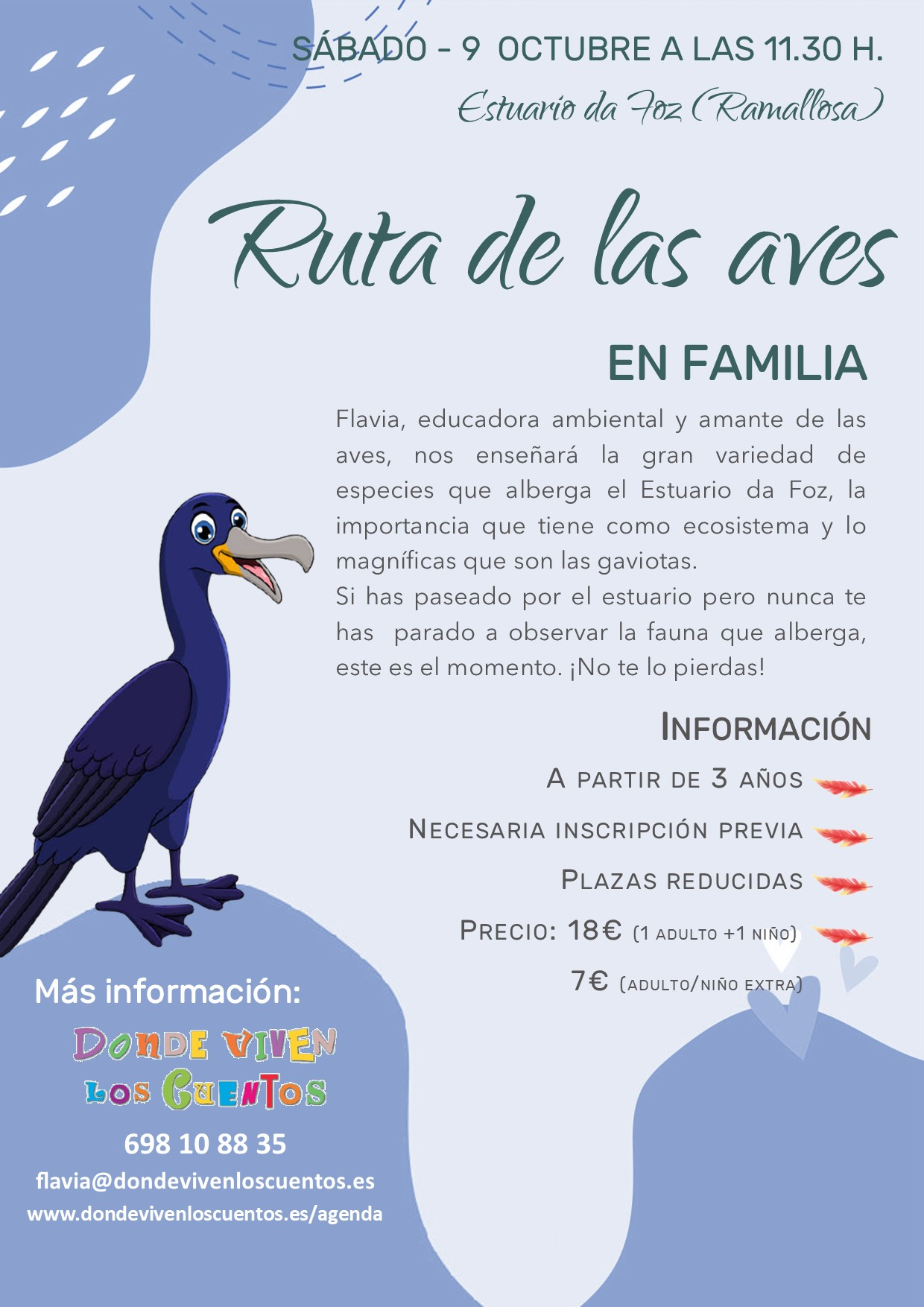 ruta aves foz miñor nigran familias