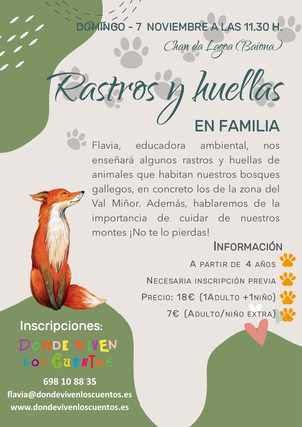 ruta senderismo nigran familias rastroy huellas